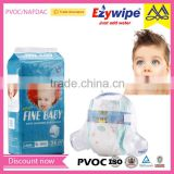 Hot style cotton baby diaper, soft fabrice baby nappy, manufacturer in China disposable baby diaper