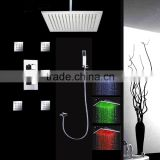 conceal led rain shower set 16 inches led bathroom shower set with 2 inches massage shower jets