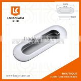 matte chrome long oval embed handle stainless steel door knob kitchen handles from Guangzhou hardware