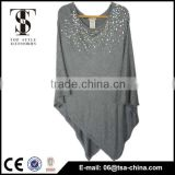 2015 newest design 100 viscose shwal beads shawl for lady
