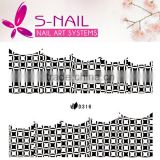 2016 New design Lace Nail Art sticker / Nail Strips Stickers& Decals/custom nail art stickers