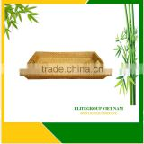 100% material natural with rattan tray