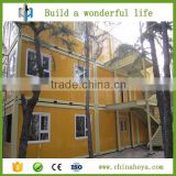 Shipping slope roof stackable living precast container house with toilet plans made by HEYA INT'L