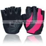 New style Women's Weight Lifting Half-finger Leather Sport Gloves