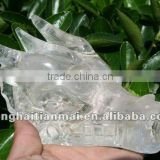 Beautiful Quartz Natural Clear Rock Crystal Carved Dragon Skull