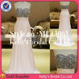 Romantic sequin bodice silver mermaid evening dress for ladies