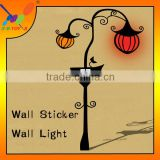 New Fashion Wall Sticker Halloween Pumpkin Wall Light Children Bedroom Wall Lamp