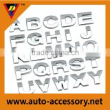 Customized car decorative 3D chrome letters with strong adhesive tape