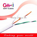 Indoor telephone cable cat3 0.6mm 2 pair copper pvc jacket hdpe insulated