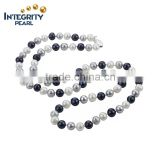 2016 hot sale new fashion 7-8mm off round mixed colour jewelry reshwater pearl long necklace