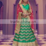 Dominican Green Net Lehenga Choli/fancy lehenga choli/Lehenga Choli Wholesaler In India