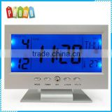 OEM high quality gifts voice control back-light LCD digital calendar clock