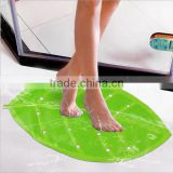 New product funny green leaf shaped water proof hotel bath mat