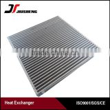China manufacturer of Customized brazed air cooled plate bar radiator aluminum core suppliers with ISO approved