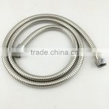 promotional bottom price stainless steel flexible hose 1.5meter with plastic fittings