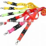 Soft polyester lanyard with custom logo and text