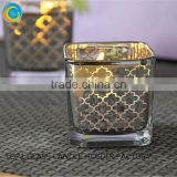 square scented glass jar candle, square glass candle jars for home & garden wedding table