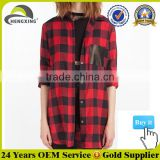 Best Selling Red And Black Plaid Shirt Wholesale Plaid Flannel Shirt