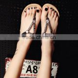 2016 Summer flat diamond pearl flat sandals for ladies pictures