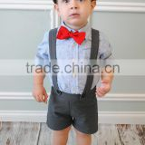 Suspender Shorts Vintage Adjustable Baby Boy Clothes Wholesale Children's Boutique Clothing