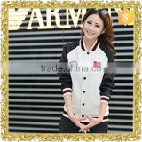 Customized embroidery logo fleece jacket baseball uniform school uniform jacket shiny fashion women baseball jacket