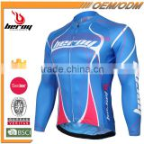 BEROY Free Design Thermal Cycle Shirt, Blue Dryfit Bicycle Cycling Jersey