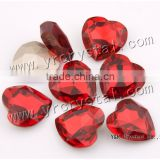 4827 Crystal Beads 28mm Siam Color Red Heart Shaped Glass Stones