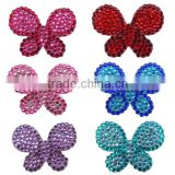 Factory Direct Selling Butterfly Jewelry Parts and Accessories,Rhinestone Butterfly Findings and Jewelry Fittings