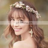 The Fisherman Hat Straw Wreath Accessories Flower Crown Festival Headband Wedding Floral Garland Hairband