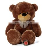 Factory supply attractive style plush stuffed gaint / big teddy bear with bow tie top sale for baby bear's birthday present