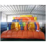 orange inflatable obstacle course/custom inflatable obstacle course for sale