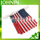 Custom size decorative polyester American bunting hanging string flag