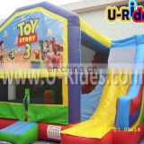 PVC tarpaulin toy inflatable bouncer inflatable castle with slide kids inflatable castle for outdoor