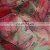 high quality printed printing organza fabric women dress fabric