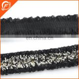 black fashion trim fringe for curtain