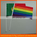hand flag with plastic pole