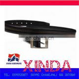 117x3.2cm PU leather belt with electroplated alloy buckle sized 6.3x4.6cm,0.6cm in thickness