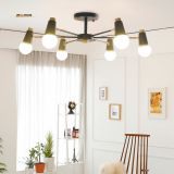 Simple chandeliers wrought iron living room bedroom study children 's room store Nordic lighting office lights led lamps