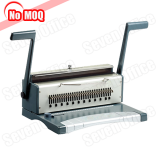 NO MOQ office manual paper spiral wire binding machine with double handle manufacturer