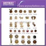 Animal design Vintage wood buttons for sweater decoration BTN-002