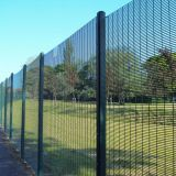 Anti-climb 358 clear vu fence panels 6ft welded wire mesh utilities fencing