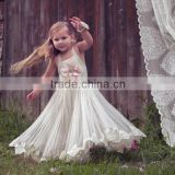 Ivory Lace Flower Girl Dress Birthday Wedding Party girl dress Holiday Bridesmaid Flower Girl Ivory Tulle Lace Flower Girl Dress