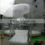 Factory outlet inflatable air dome bubble tent inflatable single layer clear/transparent bubble balloon tent