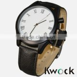 Black Pu Leather Strap Watches Men Watch 2014 Wholesale Promotional Mens Gents Watches
