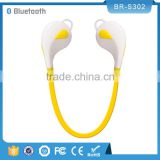 Hot sell Sports Stereo wireless double sided bluetooth earphone with Mic for Samsung LG Iphone