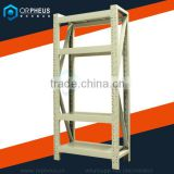 Supermarket Used Steel Furniture Stainless Steel Storage 4 Tier Shelf Sings For Supermarket