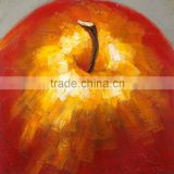 Red golden huge noble red apple 100% pure hand-painted 100% handmade decoration oil painting in canvas