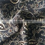 Feather Design Printed High Twisted Drapy Rayon Viscose Wool Dobby Crepe Fabric for Ladie's Trend Fashion Dresses and Tops