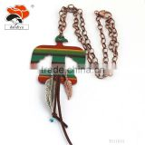 Fashion Hot Selling colorful big sticker bird leaf jewelry exaggeration necklace