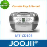 CD/CD-R/CD-RW Playback Compatible AM/FM Radio Cassette Play & Record